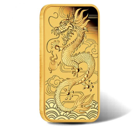 Dragon 2018 1oz Gold Proof Rectangular Coin