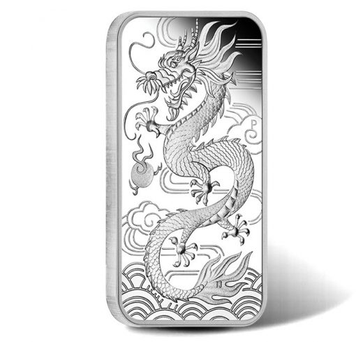 Dragon 2018 1oz Silver Proof Rectangular Coin