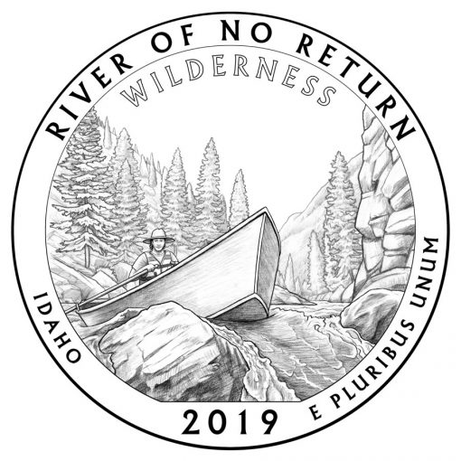 Frank Church River of No Return Wilderness Quarter and Coin Design