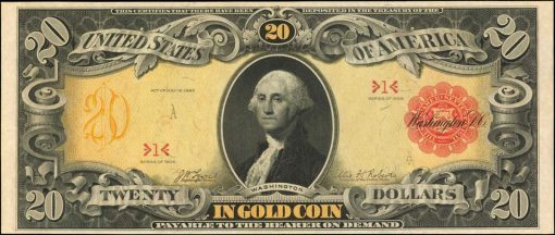 Friedberg 1179 (W-2225). 1905 $20 Gold Certificate. PCGS Currency Gem New 65 PPQ
