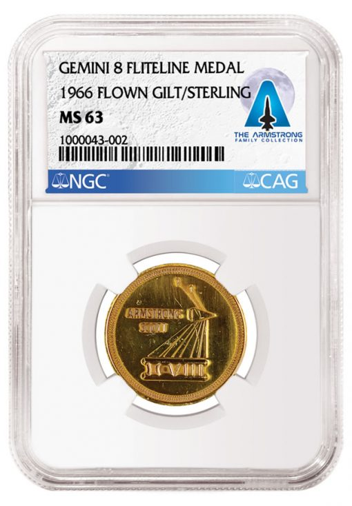 Gemini 8-Flown Gilt-Sterling Fliteline Medal