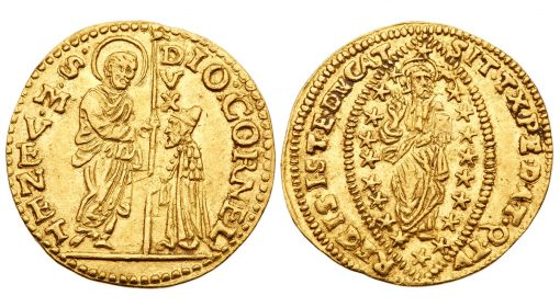 Gold Zecchino (1625-1629) of the Venetian doge Giovanni I