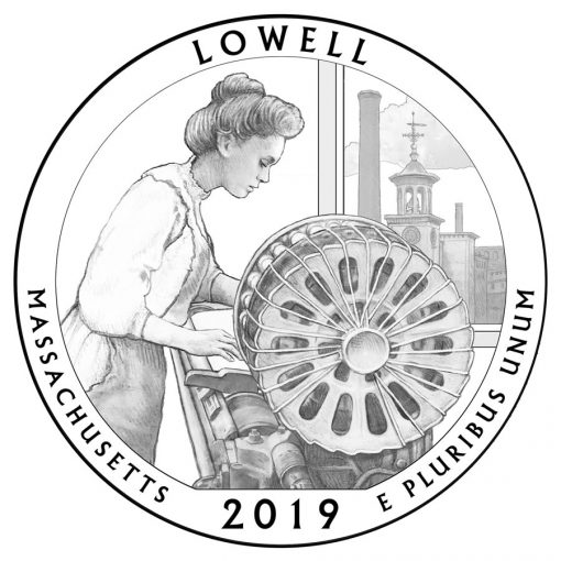 Lowell National Historical Park Quarter and Coin Design