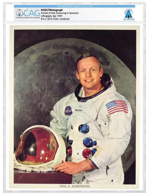 NASA Photograph of Neil Armstrong, Certified by CAG