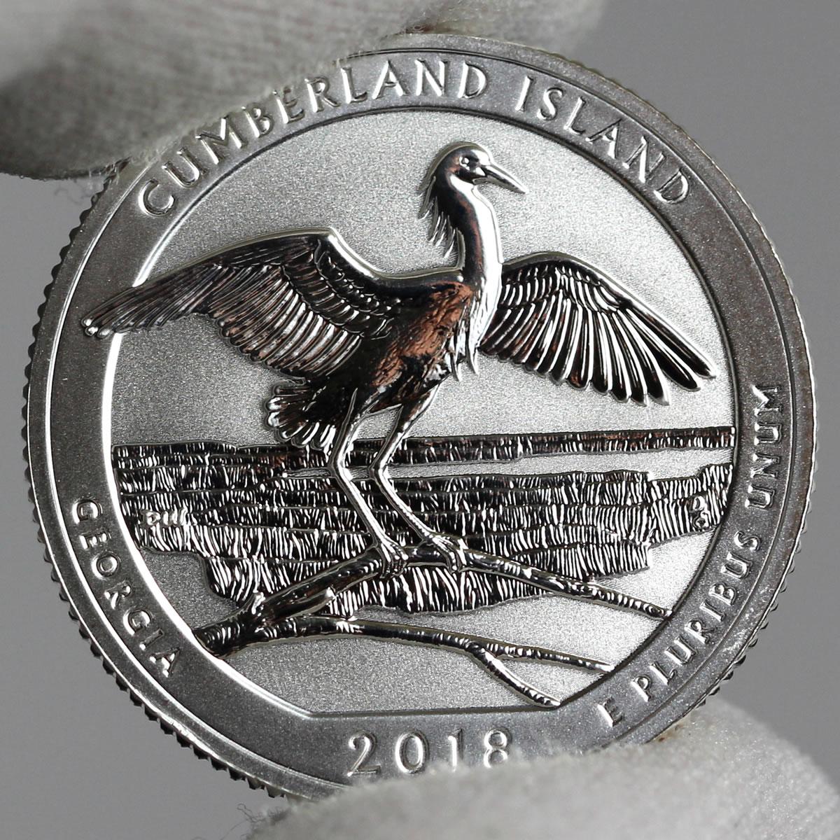 2018 S Cumberland Island National Seashore Clad Proof Park Quarter US.Mint New