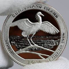 Photo of Clad 2018-S Proof Cumberland Island National Seashore Quarter - Reverse