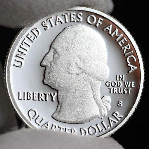 Photo of Silver 2018-S Proof Cumberland Island National Seashore Quarter - Obverse
