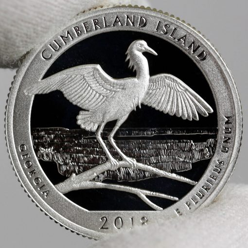 Photo of Silver 2018-S Proof Cumberland Island National Seashore Quarter - Reverse