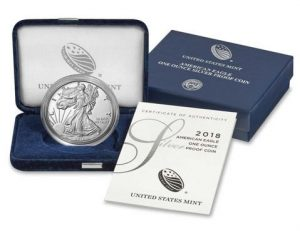 US Mint Sales: 2018-S Proof Silver Eagle at 93,884