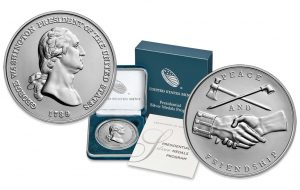 George Washington & John Adams Presidential Silver Medals Pricing and Images