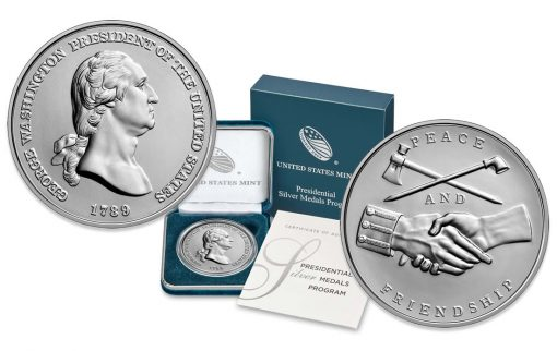 US Mint Product Images for George Washington Presidential Silver Medal