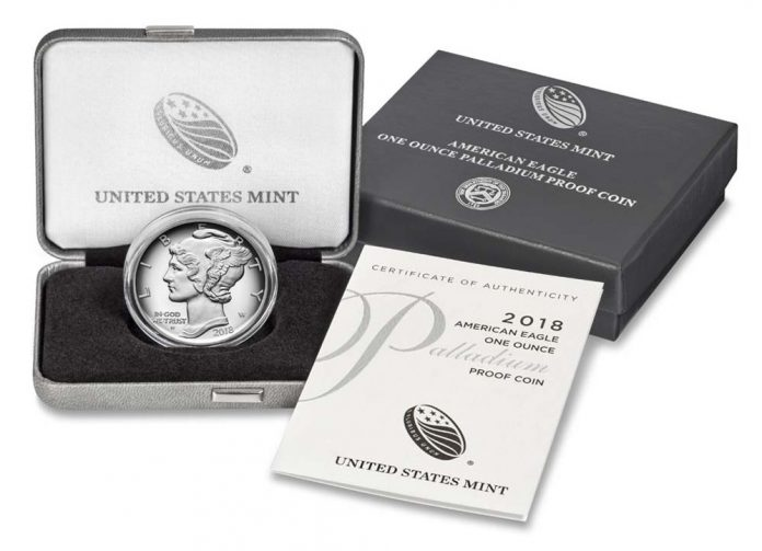 US Mint image of 2018 Proof American Palladium Eagle