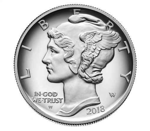 US Mint image of 2018 Proof American Palladium Eagle - Obverse