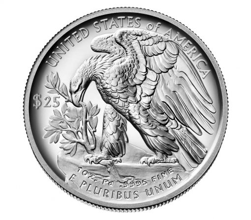 US Mint image of 2018 Proof American Palladium Eagle - Reverse