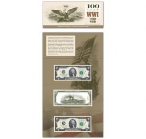 WWI 100th Commemorative $2 Collection