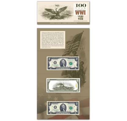 2018 100 YEAR WWI Anniversary Commemorative Currency $2 Collection