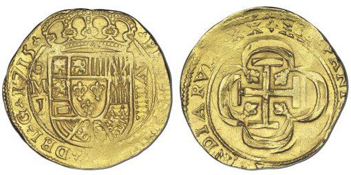 1715 gold cob 8 escudos