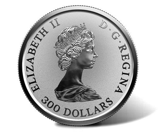 2018 $300 30th Anniversary Platinum Maple Leaf Coin - Obverse