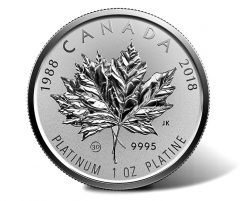 Fractional Coin Set for 30th Anniversary of Platinum Maple Leaf