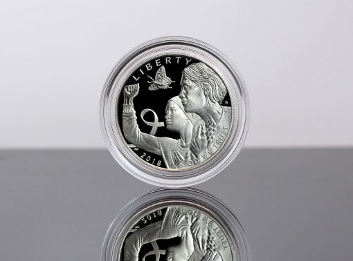 2018-S 50c Proof Breast Cancer Awareness Commemorative Coin - Obverse