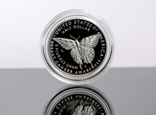 2018-S 50c Proof Breast Cancer Awareness Commemorative Coin - Reverse