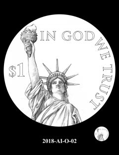 American Innovation $1 Coin Design Candidate 2018-AI-O-02