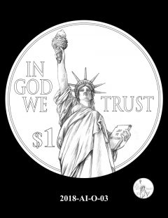 American Innovation $1 Coin Design Candidate 2018-AI-O-03