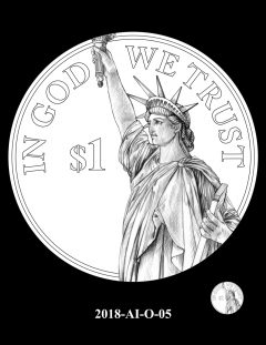 American Innovation $1 Coin Design Candidate 2018-AI-O-05