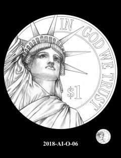 American Innovation $1 Coin Design Candidate 2018-AI-O-06