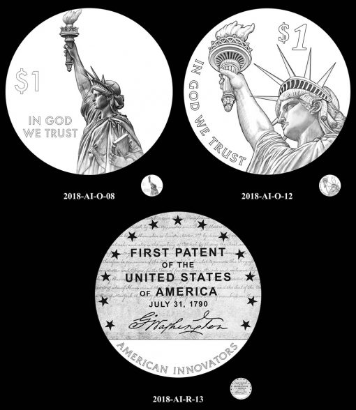 CFA Recommended designs for the 2018 American Innovation $1 Coin
