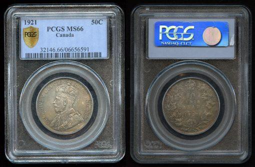 Canadian 1921 50c