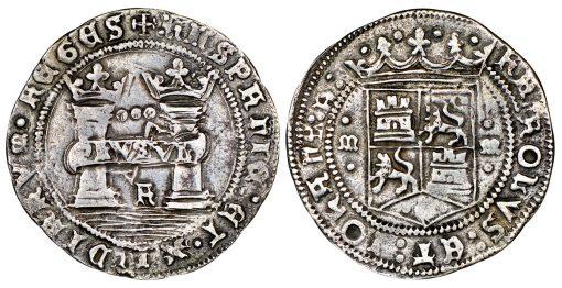 Mexico City-minted Charles-Joanna 3 reales