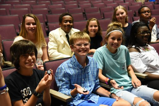 Students proudly hold their new Cumberland Island National Seashore quarter