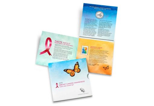 U.S. Mint Image - Breast Cancer Awareness Commemorative Coin and Stamp Set