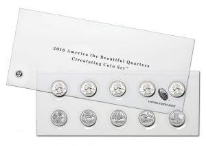 US Mint Sales: 2018 Circulating Quarters Set Debuts