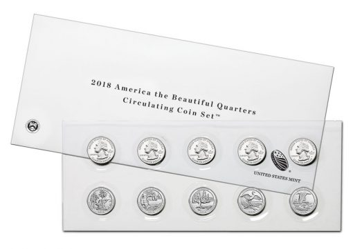2018 America the Beautiful Quarters Circulating Coin Set