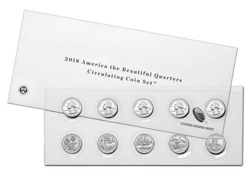 2018 America the Beautiful Quarters Circulating Coin Set