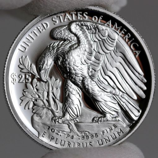 2018-W $25 Proof American Palladium Eagle - Reverse,b