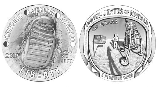 2019 Apollo 11 50th Anniversary Commemorative Coin Designs