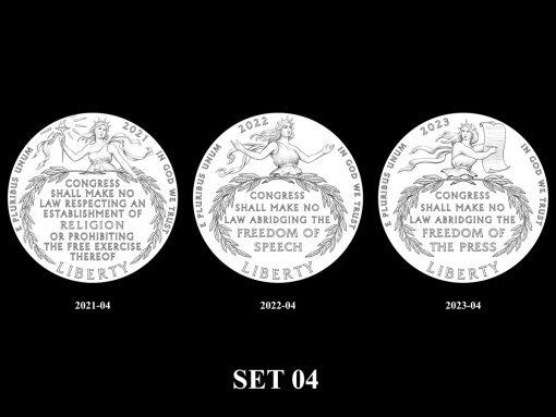 2021-2025 Proof American Platinum Eagle Concept Design - SET 04