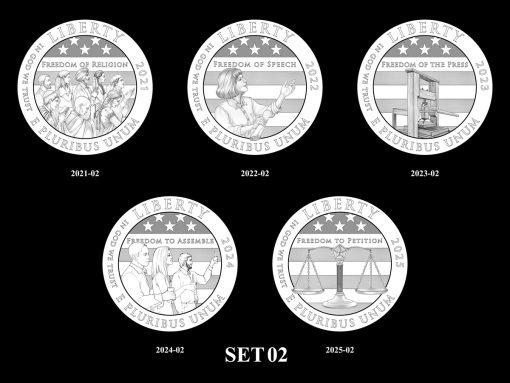 2021-2025 Proof American Platinum Eagle Concept Design - Set 02