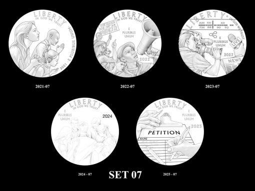 2021-2025 Proof American Platinum Eagle Concept Design - Set 07