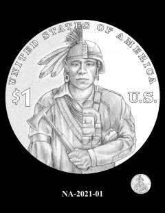2021 Native American $1 Coin Candidate Design NA-2021-01