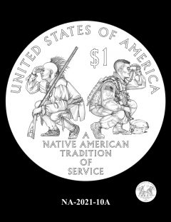 2021 Native American $1 Coin Candidate Design NA-2021-10A