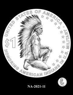 2021 Native American $1 Coin Candidate Design NA-2021-11