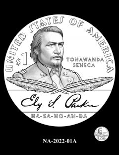 2022 Native American $1 Coin Candidate Design NA-2022-01A