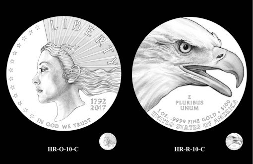 CCAC Recommended Designs for the 2019 American Liberty Gold Coin and Silver Medal