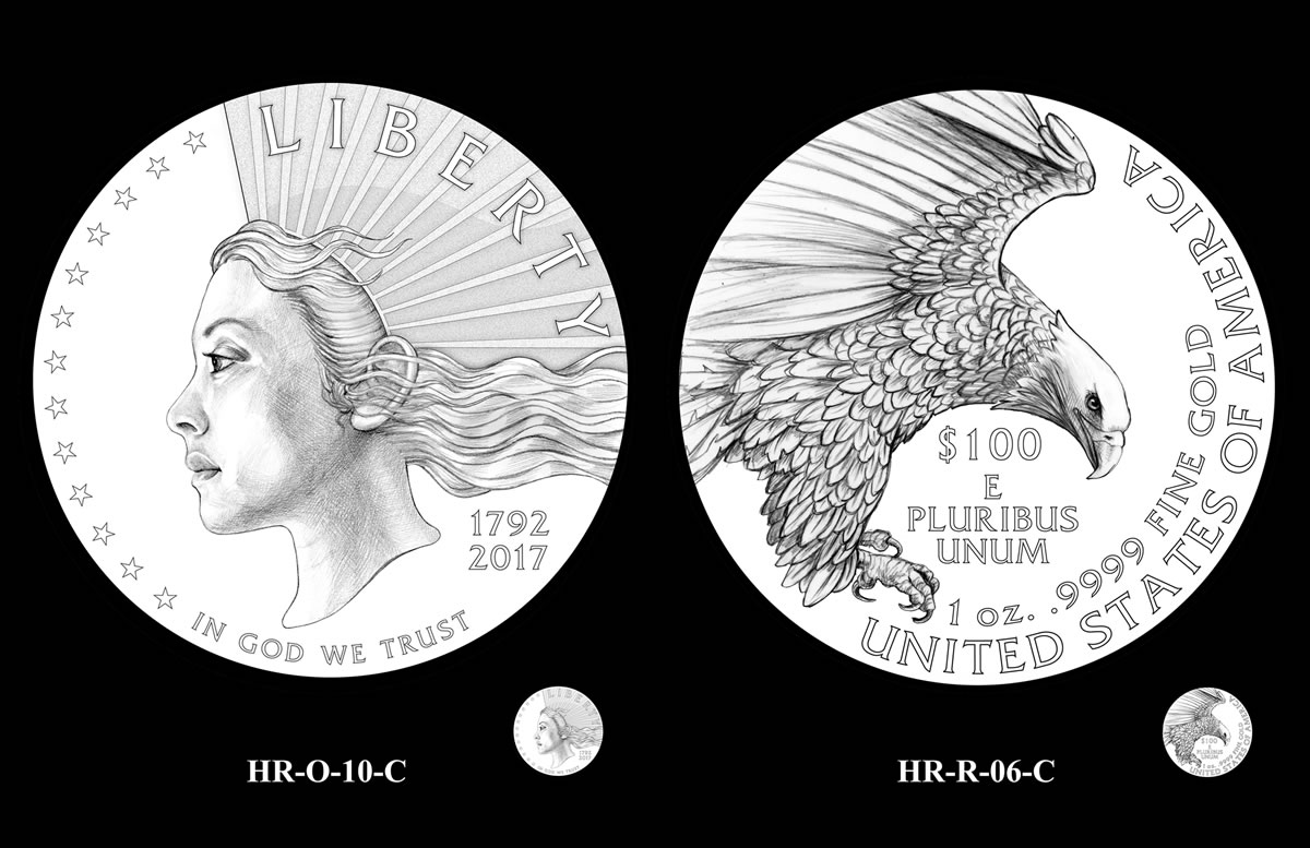 2019 American Liberty Gold Coin And Silver Medal Design