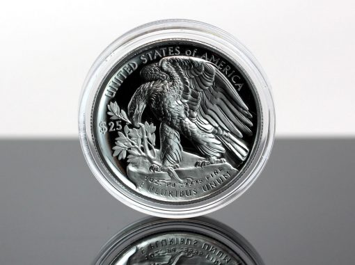 Photo, Reverse 2018-W $25 Proof American Palladium Eagle