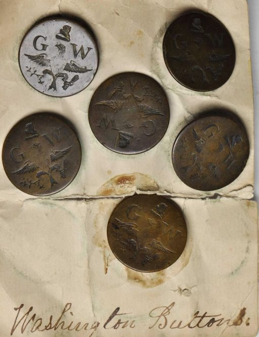 1789 George Washington Inaugural Button Set